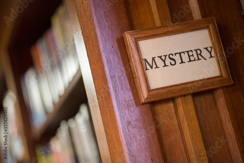 Fototapeta Library Mystery Section sign
