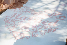 White Path For Newlyweds Wedding Ceremony