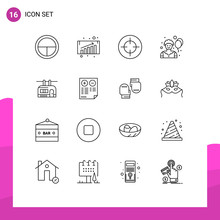 Pack Of 16 Creative Outlines O...