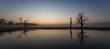 Zachód słońca na łęgach