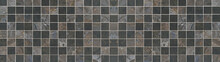 Black Anthracite Gray Brown Beige Square Cement Concrete Vintage Retro Tiles Texture Background Banner Panorama