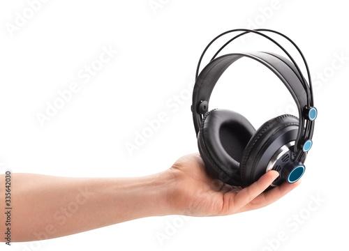 monitor headphones Canvas Print