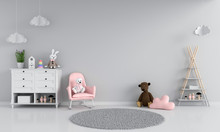 Sofa In Gray Child Room Interi...