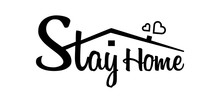 Stay Home Black Colored, Stay ...