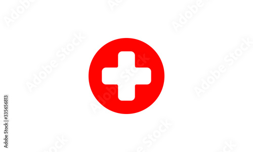 Fotografie, Tablou First aid medical sign flat icon