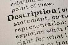 Definition Of Word Description