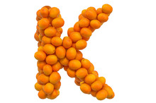Letter K From Oranges, 3D Rend...