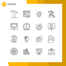 16 User Interface Outline Pack...