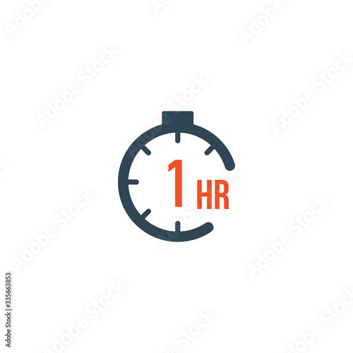Fotografia 1 hour round timer or Countdown Timer icon