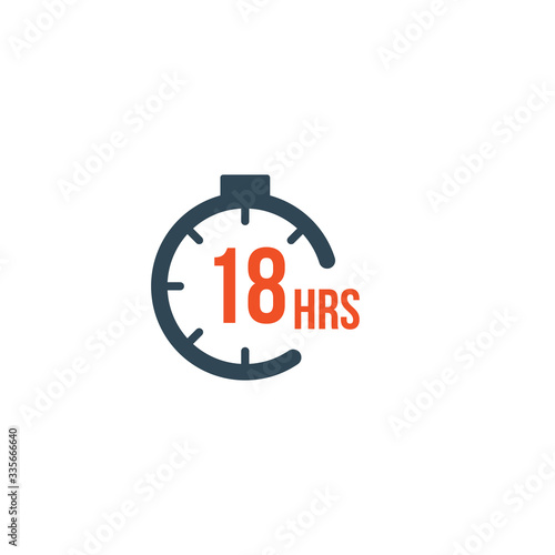 18 hours round timer or Countdown Timer icon Poster Mural XXL