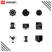 Set Of 9 Modern UI Icons Symbols Signs For Leprechaun, Hat, Drink, Day, Timer