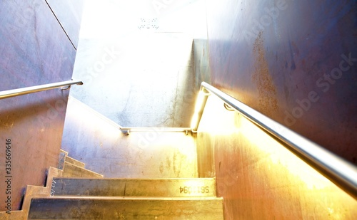 Fototapety, obrazy: Staircase and sunlight falling on it
