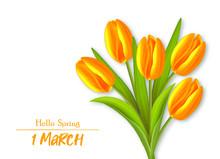 Happy Womens Day, Yellow Tulip...