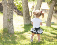 A Little Girl In The Park
