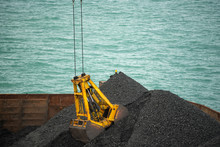 Loading Coal From Cargo Barges...