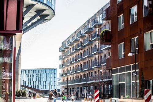 Photo copenhagen city buildings