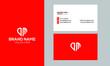 letter DM logo elegant corporate identity template with Creative Modern Trendy