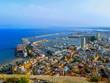 panorama miasta portowego