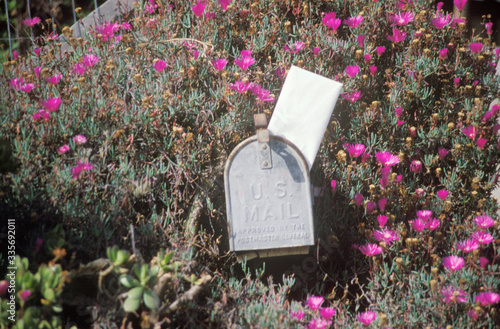 Fotografia, Obraz Mailbox with outgoing mail, Ventura, CA