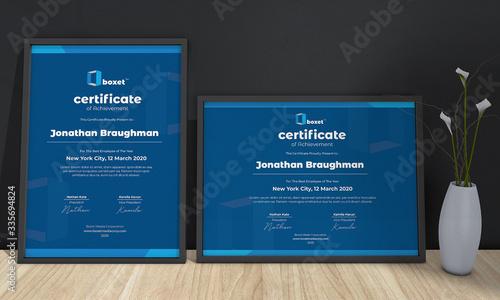 Multipurpose Professional Certificate Template Fototapet