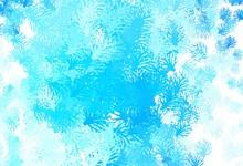 Light BLUE Vector Doodle Backd...