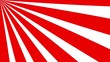 Sunburst, radial, sun light, circus, stripe background rotation. Royalty high-quality best stock footage cartoon sunburst pattern red, white background animation. Stripes sunburst rotating motion