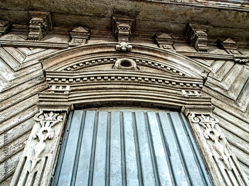 Photo Carved wood trim Windows of the old house