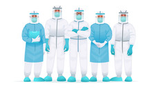 Team Of Doctors In A Protectiv...