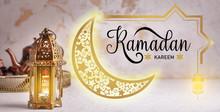Muslim Lamp And Text RAMADAN K...