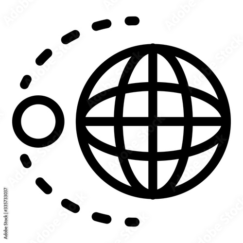 Tablou Canvas Earth moon gravity icon