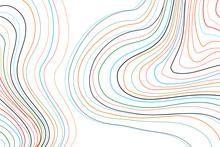 Colorful Topographic Line Cont...