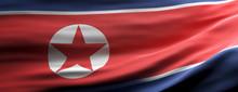 North Korea National Flag Wavi...