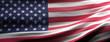 United states America national flag waving texture background. 3d illustration