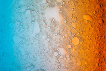 Colourful Background With Bubbles And Liquid