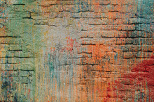 Colourful Brick Wall Background Texture