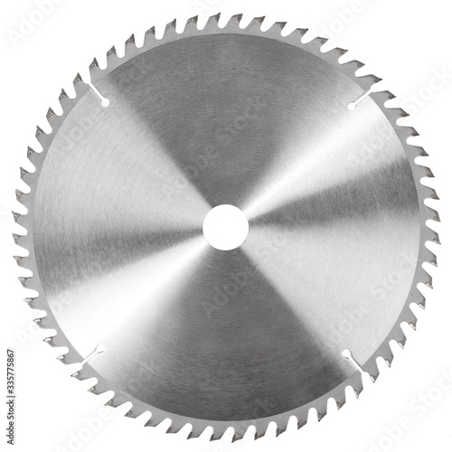 Fotografia Circular saw blade for wood circular saw isolated on white background