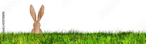 Osterhase in einer Grünen Wiese Banner