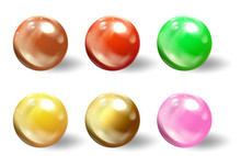 Realistic Spheres, 3d Balls Or...