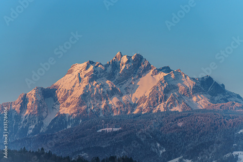 Sunrise on Pilatus Canvas