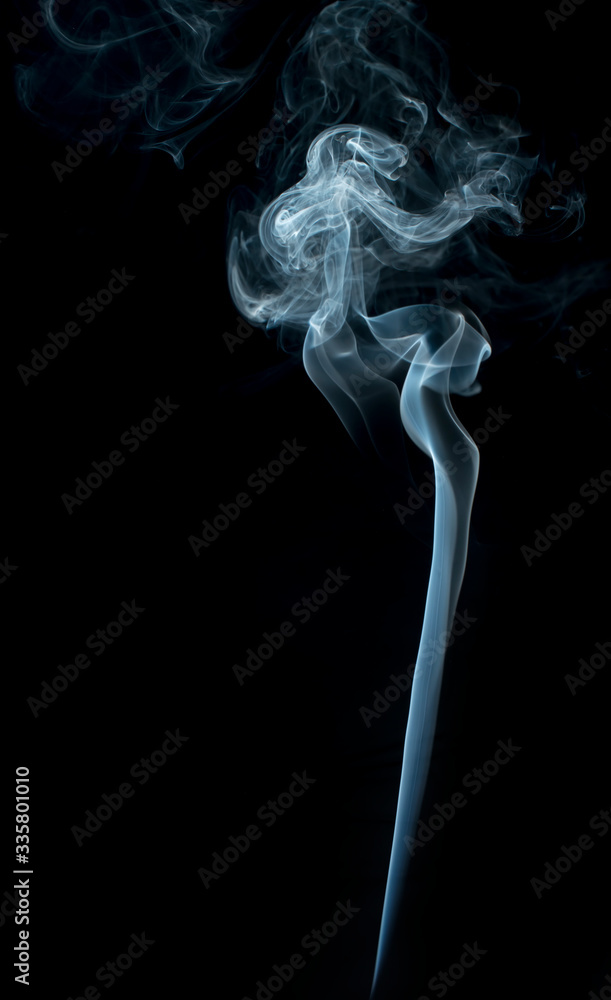 Fototapeta Smoke on black background.