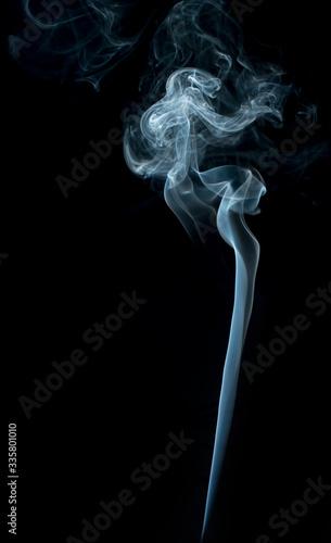 Smoke on black background. Fototapete