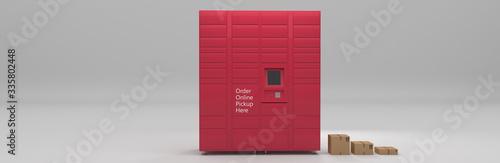 Fototapeta Order online service delivery pickup self-service locker, grocery, parcel delive