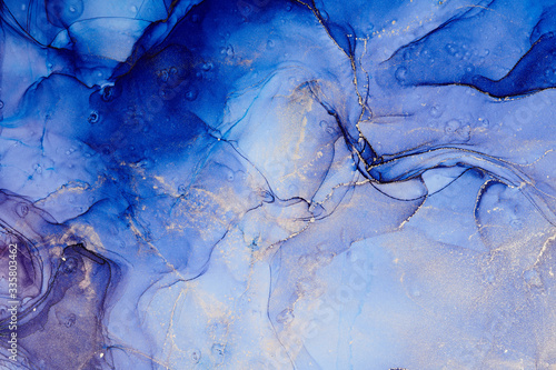 Fototapety, obrazy: Alcohol ink colors translucent. Abstract multicolored marble texture background. Design wrapping paper, wallpaper. Mixing acrylic paints. Modern fluid art. Alcohol Ink Pattern