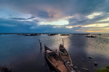 Boats In Tam Giang Lagoon In S...