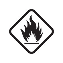 Flammable Icon Vector Design I...