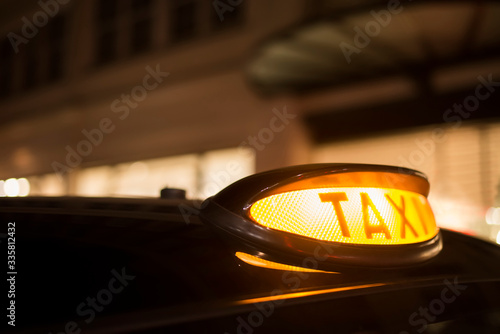 Taxi in London Canvas Print