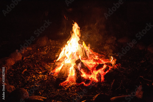 Photo Lagerfeuer am Abend
