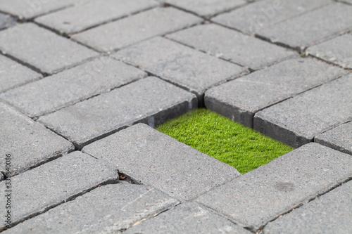 Obraz Photo collage with urban isolation concept - fototapety do salonu