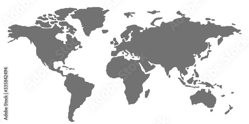 Fototapeta kontynenty   world-map-on-white-background-stylized-vector-illustration