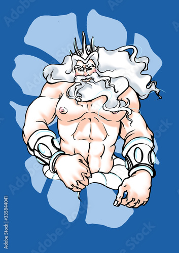 Canvas-taulu Hunk King Triton
